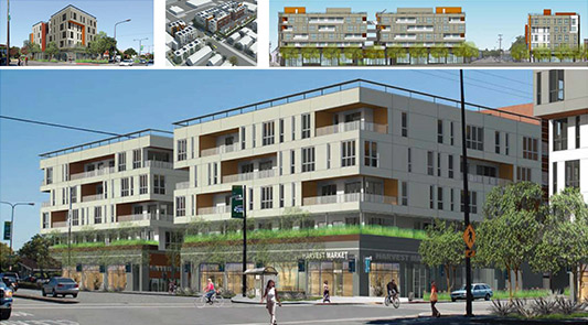 Parker Place, Central Berkeley 155 Transit-Oriented Dwelling Units 22,000 SF Retail/Restaurant 139,200 GSF Client: Lennar Multifamily Completed: 2017