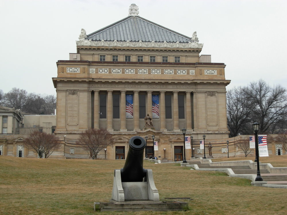 The Soldiers and Sailors Memorial Hall in Pittsburgh,  PA.  Image courtesy of WESA.