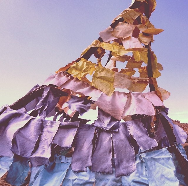 April Rose's Earth Hues silk teepee
