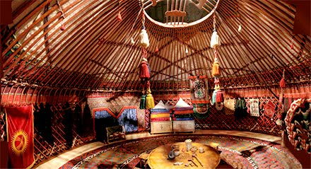 Yurt inside Photo by  Bob Snell