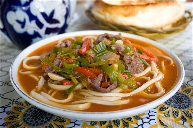 Noodle dish called lagman
