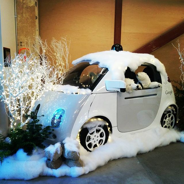 Bears in a self-driving car #holidaysarecoming #googlex