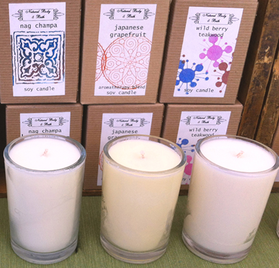 NATURAL BODY AND BATH SOY CANDLES
