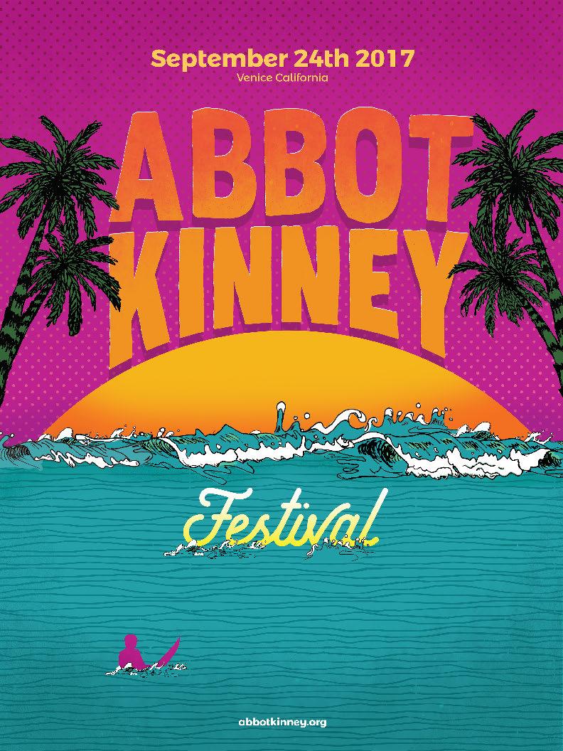 2017 abbot kinney festival poster