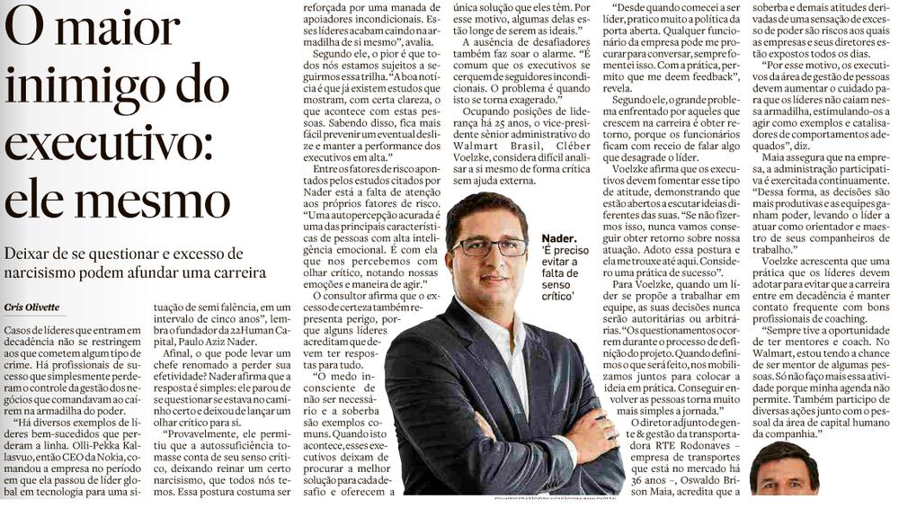 Entrevista de Paulo Aziz Nader no Jornal O Estado de São Paulo em 2017