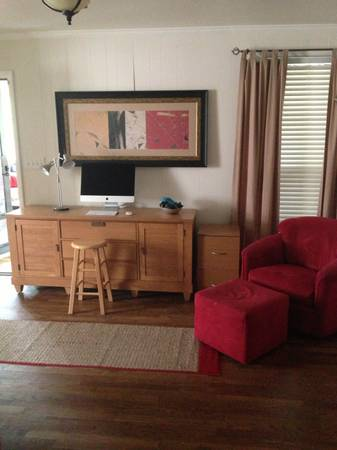 Entertainment Center $100   - Would look great painted!