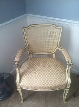 French Style Cane Back Arm Chair $50
