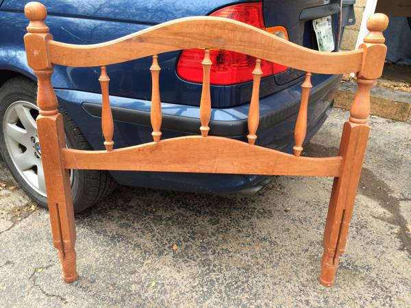 Twin Headboard $15  - Can't beat the price and it would look adorable painted.
