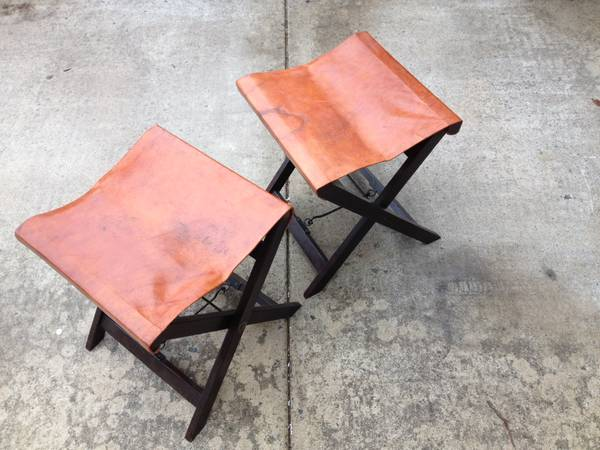 Leather Stools $40 pair