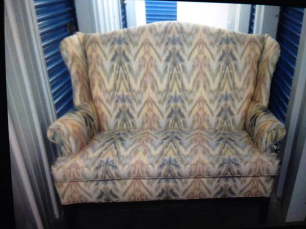 Wingback Loveseat $150