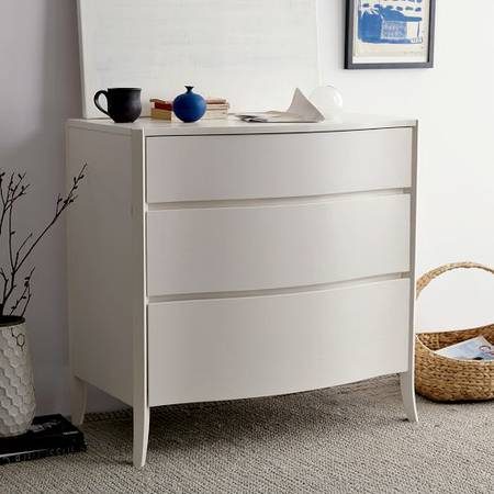 West Elm Dresser $275 (included custom cut glass top)