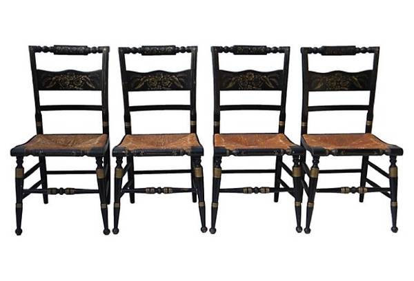 Set of 6 Hitchcock Chairs $275