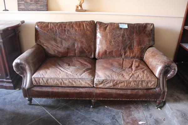 Leather Sofa $650