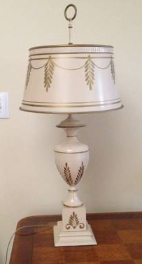 Antique Tole Lamp $40  - I posted this a few weeks ago but it is still available and they reduced the price. It's a great piece and a good price.