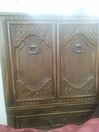 Armoire $45  - This is a great price for this piece, definitely would be transformed easily with a coat of paint.