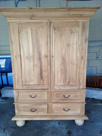 Pine Armoire/Media Cabinet $200