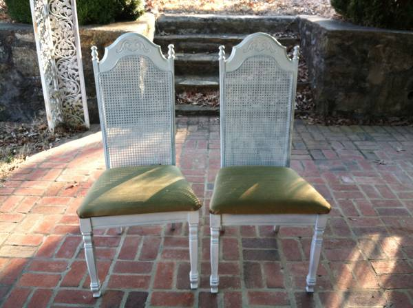 Cane Back Chairs $50 for both