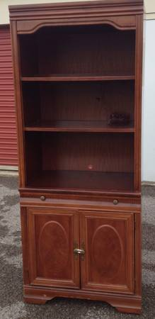 Bookcase 3 pieces $75  - Good price for all 3 pieces and would look great painted.