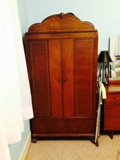 Antique Armoire/Wardrobe and other pieces ?  - There is no price listed on this ad, however the seller has several other pieces listed on the ad including a great mid century dresser as well. Check it out.