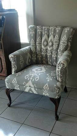 Antique Reupholstered Chair $150
