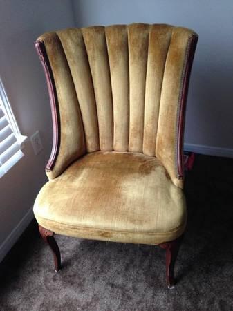 Vintage Velvet Chair $100