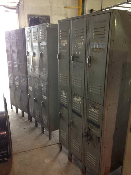 Three Locker Sections (6 lockers in each) $200 for all  - These need a bit of tlc but could be really cool in an office or garage or rec. room.