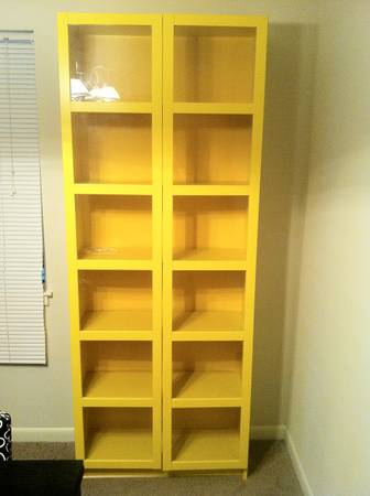Yellow 5 Shelf Bookcase $60