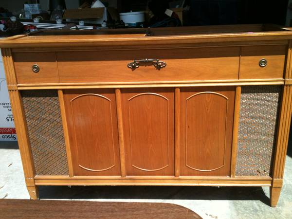Antique Stereo Cabinet $50 - This piece has a lot of potential. I have one in my daughter's room that we painted and turned into a changing table.