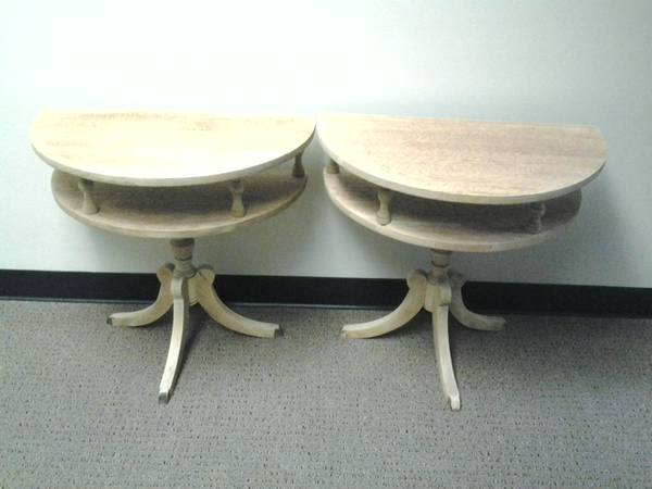 Pair of End Tables $40  - This is a really cute set of end tables. These make great side tables next to a couch or chair if you want a table but don't have a lot of space.