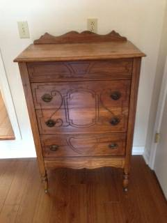 Antique Dresser $45  - This is a great dresser and it has been refinished, a really good deal at $45.