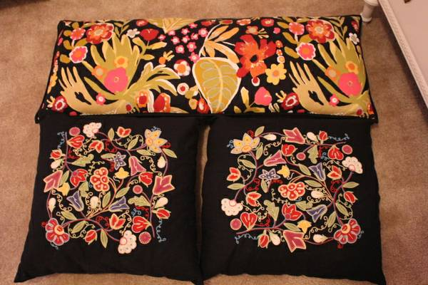 Pottery Barn Embroidered Pillows $40 (with down inserts)