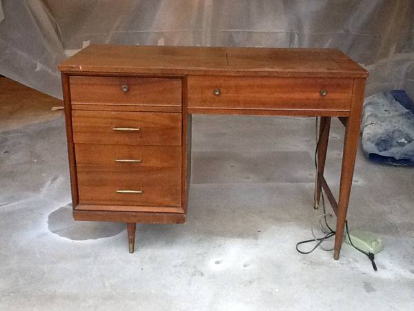 Mid Century Sewing Table $85 - I think this would make a great desk.