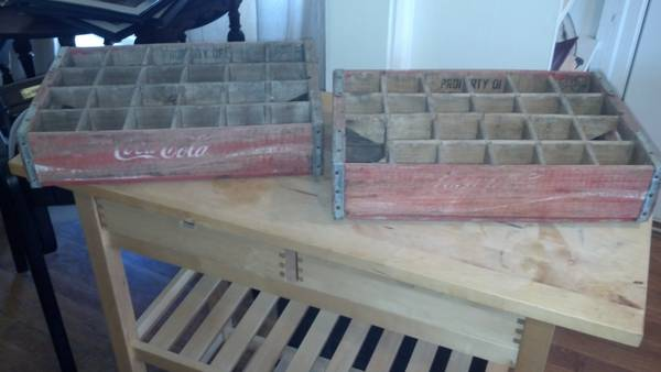 Pair of Coca-Cola Crates $30