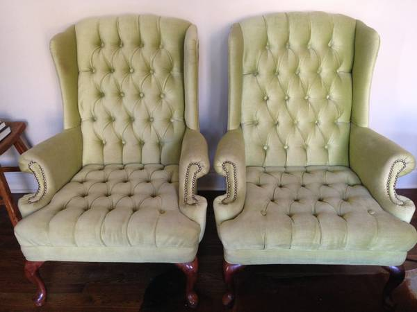Pair of Wingback Chairs $100