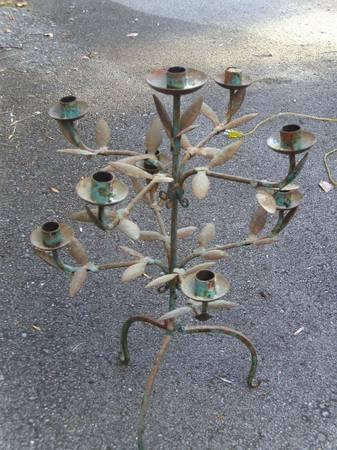 Vintage/Rustic Candleholder $10