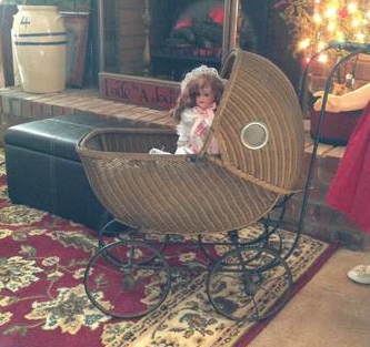 Antique Baby Carriage $130  - This could be a really cute nursery decoration.