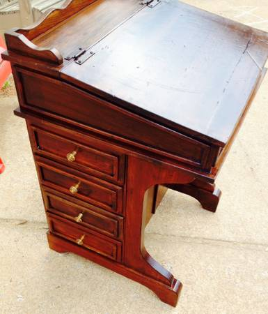 Small Writing Desk $60  - This would be a great size for a child's desk and could be really cute painted.