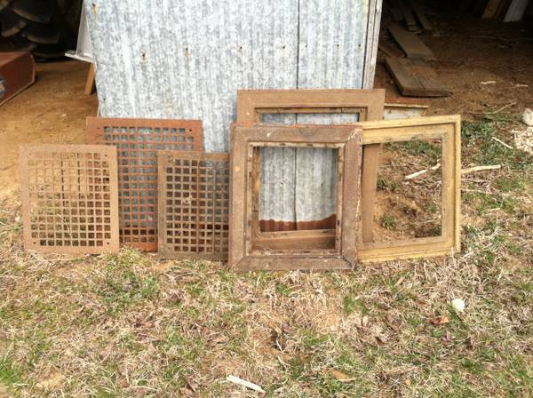 Vintage Metal Grates $10  - These old grates could look really good hanging on the wall.