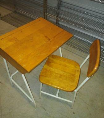 Vintage School Desk $40  - Cute little desk, its the perfect size for a kid's room.