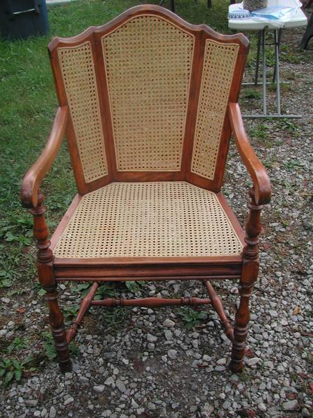 Antique Cane Chair $65