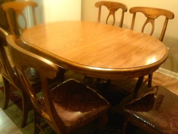 Dining Table and 6 Chairs $120  - This is a really good deal for the whole set.