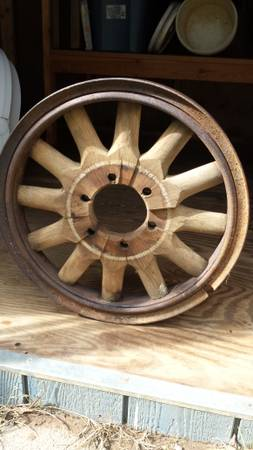 Antique Wood Spoke Wheel $80 - This wheel would look great hanging on the wall.
