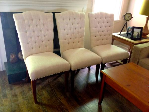 Tufted Dining Chairs $50 each (6 available)