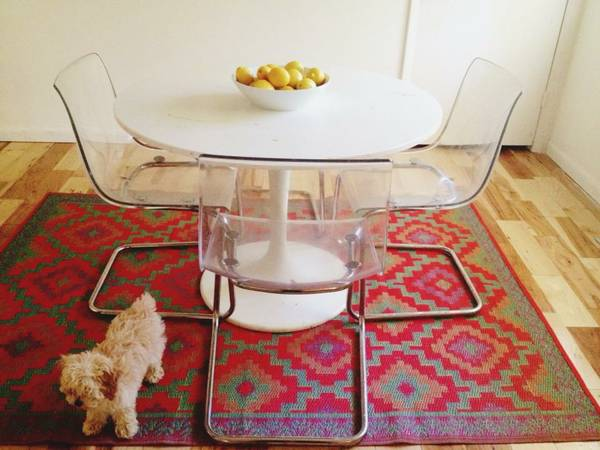 IKEA table and chairs $75 (seller will sell pieces separately)