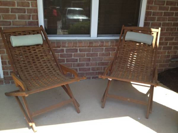 Pair of Outdoor Chairs $100