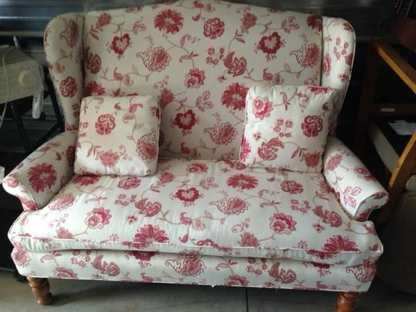 High Back Love Seat $180