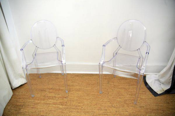 Pair of Louis Ghost Chairs $200 (or $150 each)