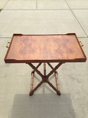 Antique Tray Top Table $50