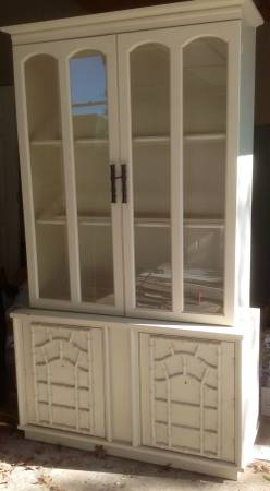 China Cabinet $150  - I love this china cabinet and its already been painted! I think its a steal at $150.
