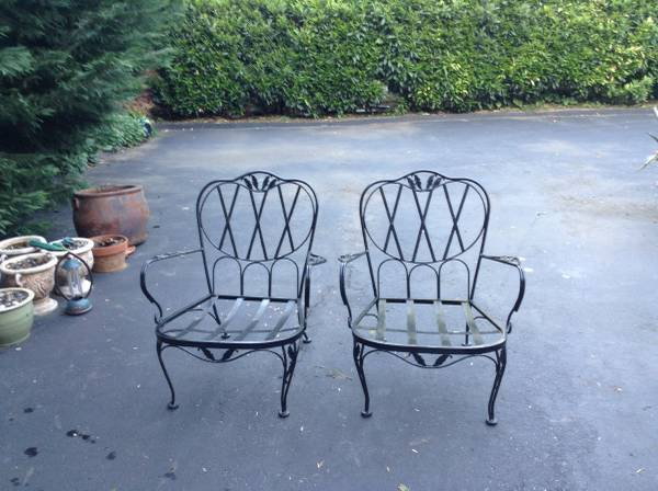 Wrought Iron Chairs $40 pair